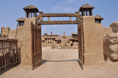 Le rovine della fortificazione antica Immagini Stock