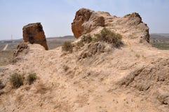 Le rovine della grande muraglia Fotografie Stock Libere da Diritti