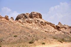 Le rovine della grande muraglia Immagini Stock