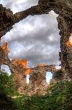Le rovine della parete Fotografia Stock