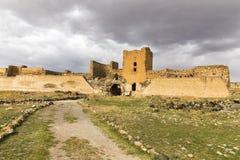 Le rovine della parete del castello degli ani, Kars, Turchia Fotografia Stock