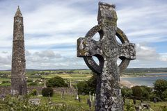 Le rovine di Ardmore - l'Repubblica Irlandese immagini stock