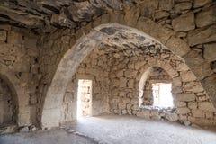Le rovine di Azraq fortificano, la Giordania centrale-orientale, 100 chilometri ad est di Amman Fotografie Stock