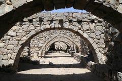 Le rovine di Azraq fortificano, la Giordania centrale-orientale, 100 chilometri ad est di Amman fotografia stock libera da diritti