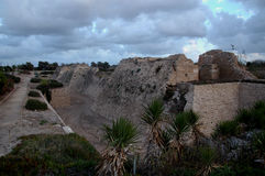 Le rovine di Cesarea in Palestina, Israele Immagini Stock Libere da Diritti