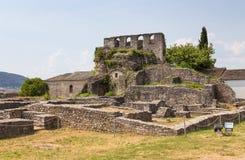 Le rovine di Giannina fortificano, Epiro, Grecia immagine stock