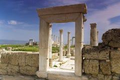 Le rovine di Laodicea una città di Roman Empire in attuale, Turchia, Pamukkale Fotografia Stock Libera da Diritti