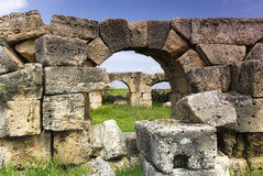 Le rovine di Laodicea una città di Roman Empire in attuale, Turchia, Pamukkale Immagine Stock Libera da Diritti