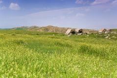 Le rovine di Laodicea una città di Roman Empire in attuale, Turchia, Pamukkale immagini stock libere da diritti