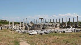 Le rovine di Perga stock footage
