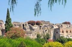 Le rovine di Pompeii Fotografie Stock Libere da Diritti