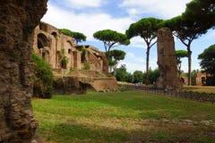 Le rovine di Roman Forum Fotografia Stock