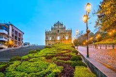 Le rovine di St Paul & di x27; s a Macao Immagine Stock Libera da Diritti