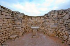 Le rovine di un altare antico Fotografie Stock
