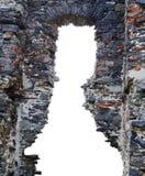 Le rovine di un castello antico Fotografia Stock Libera da Diritti
