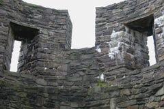 Le rovine di una fortezza antica medievale, Maastricht Una parte di una parete 2 Fotografia Stock