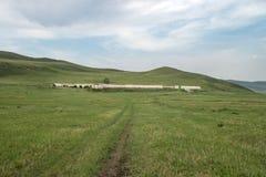 Le rovine di una prigione del condannato in Transbaikalia fotografie stock