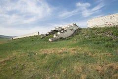 Le rovine di una prigione del condannato in Transbaikalia immagini stock libere da diritti