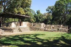 Le rovine maya di Las Sepulturas vicino a Copan Immagini Stock