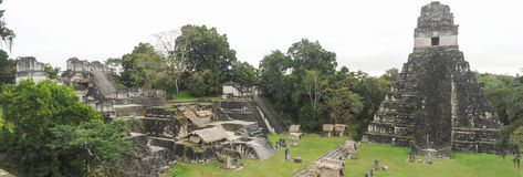 Le rovine maya di Tikal fotografia stock