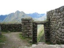 Le rovine nel Perù Fotografia Stock