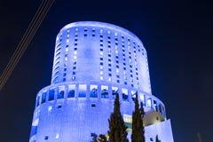 Le Royal hotel at night in Amman, Jordan.  royalty free stock image