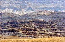 Le royaume de Guge de paysages et de canyons de désert Photos libres de droits