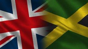 Le Royaume-Uni et la Jamaïque illustration stock