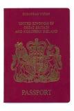 - Le Royaume-Uni - passeport européen Images stock