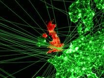Le Royaume-Uni sur la carte verte illustration de vecteur