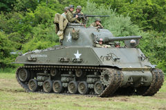 Le réservoir de M4 Sherman au musée de l'armure américaine Photo stock