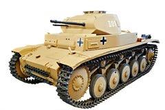 Le réservoir léger allemand Panzer II PzKpfw II a isolé le blanc Image libre de droits