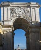 Le Rua Augusta Arch sur le Praca font Comercio, Lisbonne photo stock
