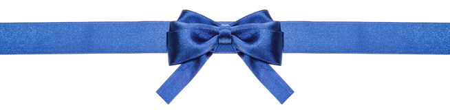 Le ruban bleu et l'arc symétrique avec la place ont coupé des extrémités Photos libres de droits
