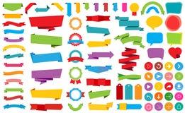 Le ruban marque le vecteur de bannières d'autocollants Image libre de droits