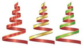 Le ruban a placé la couleur trois illustration de vecteur