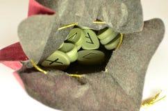 le rune nella borsa Immagini Stock Libere da Diritti