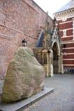 Le runestone de Harald, Domplein, Utrecht, Hollande Photos stock