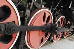 Le ruote della locomotiva Immagini Stock