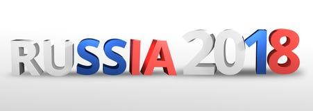 Le Russe 2018 3D réaliste de la Russie rendent Photos libres de droits