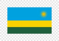 Le Rwanda - drapeau national illustration libre de droits