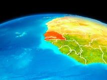 Le Sénégal en rouge Image stock
