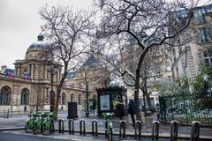 Le sénat des Frances situées au palais du luxembourgeois dans le 6ème arrondissement de Paris photographie stock libre de droits