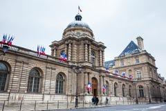Le sénat des Frances situées au palais du luxembourgeois dans le 6ème arrondissement de Paris images stock