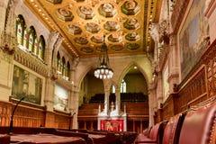 Le sénat du bâtiment du Parlement - Ottawa, Canada images libres de droits