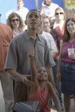 Le sénateur Barak Obama avec son descendant Photos libres de droits