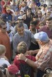 Le sénateur Barak Obama faisant campagne pour le président Photo libre de droits