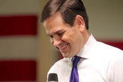Le sénateur Marco Rubio de candidat présidentiel Image libre de droits