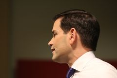 Le sénateur Marco Rubio de candidat présidentiel Images libres de droits