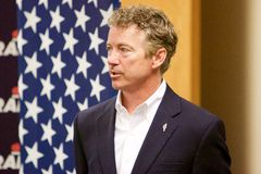 Le sénateur Rand Paul de candidat présidentiel images libres de droits